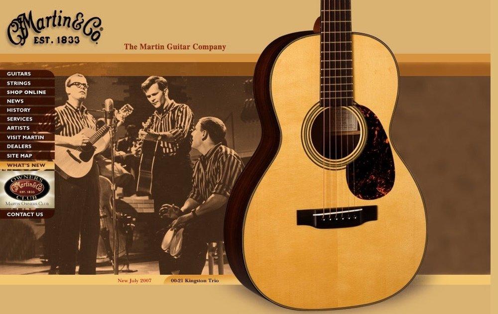 Dave Guard /Bob Shane /Nick Reynolds  (Martin Guitar Landing Page - CLICK IMAGE TO CONTINUTE TO MARTINGUITAR.COM