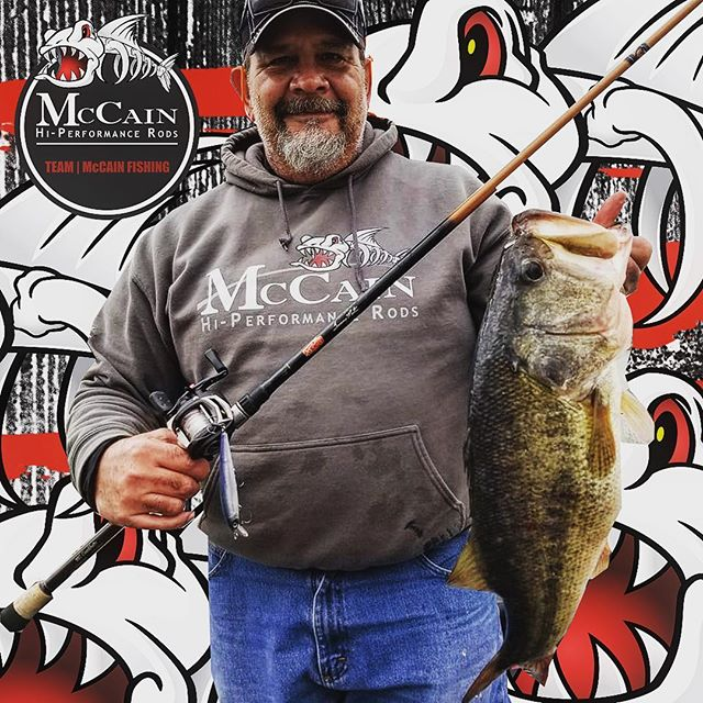 Check out Doug with the big bass during these somewhat cold days - Thanks, Doug, for reppin' the brand - McCain Fishing is preparing for an amazing 2019!  If you want to be the best, fish with the best.  Make every cast count! #mccainfishing #mccainrods #mccainfishingrods #fishingrods #fishing #fish #fishingrod #fishingrods #bass #bassin #bigbass #teammccain #mccain2019