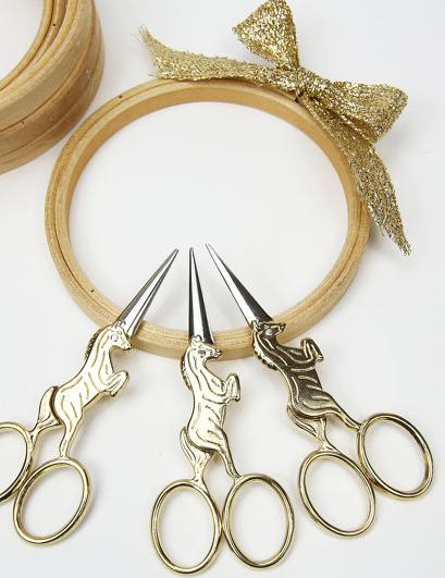 Unicorn embroidery scissors from The Felt Pod, via Etsy