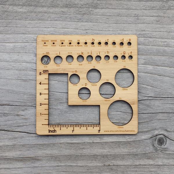 A square gauge ruler, via Katrinkles