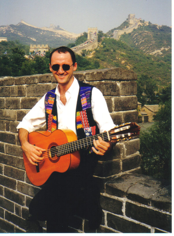 Roberto Aguilar at The Great Wall, China