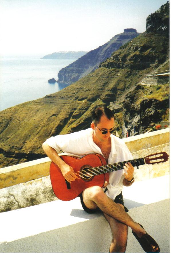 Roberto Aguilar, Santorini, Greece