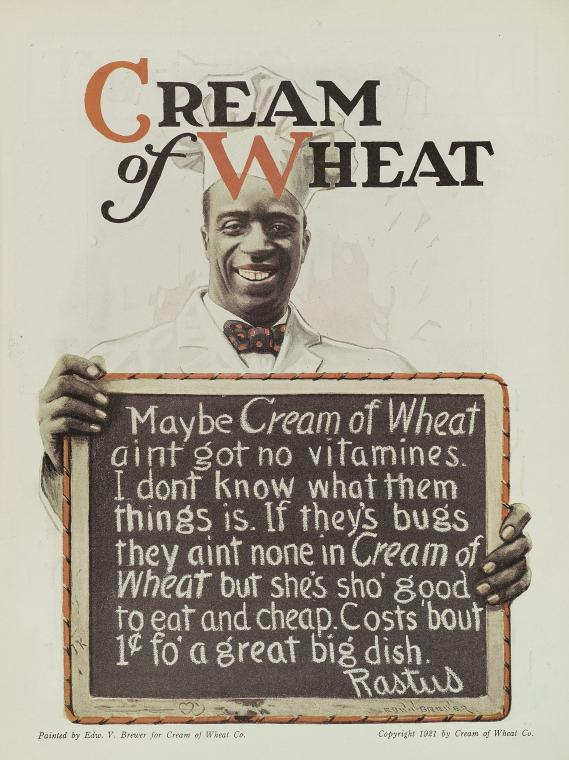 Cream of Wheat Ad 1921
