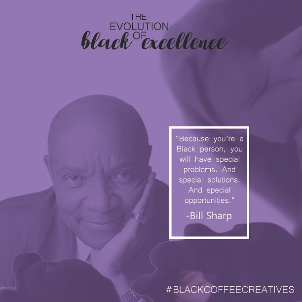 "Advertising legend, Bill Sharp broke barriers and helped launch the careers of dozens of Black creatives. He founded the ""Basic Ad Course"" where he nurtured the minds of creatives and made the into ad pros.  #BHM #adlife #blackexcellence #blackcoffeecreatives"