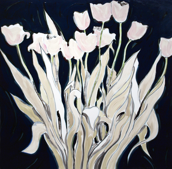Matthew Johnston Tulip Bunch in Black and White