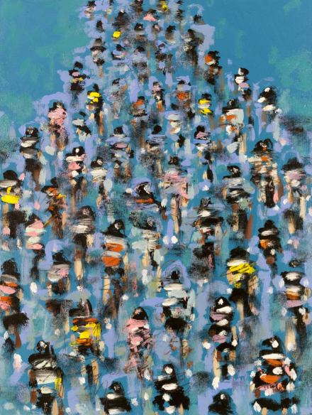 Heather Blanton Blue Cyclists Peleton