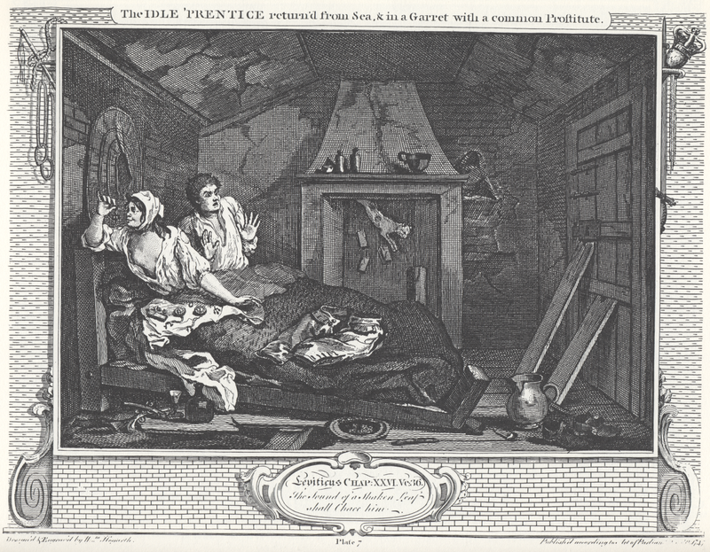 William Hogarth Industry and Idleness Panel 7