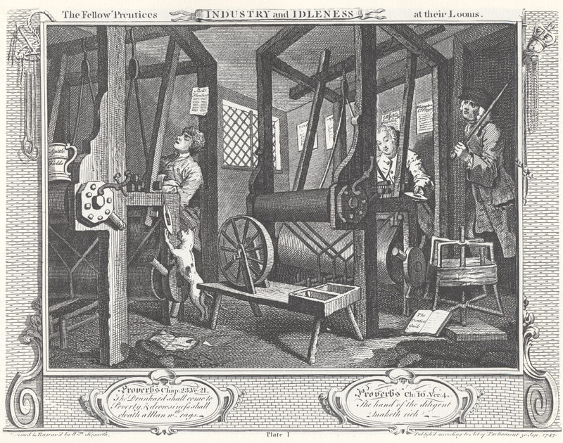 William Hogarth Industry and Idleness Panel 1