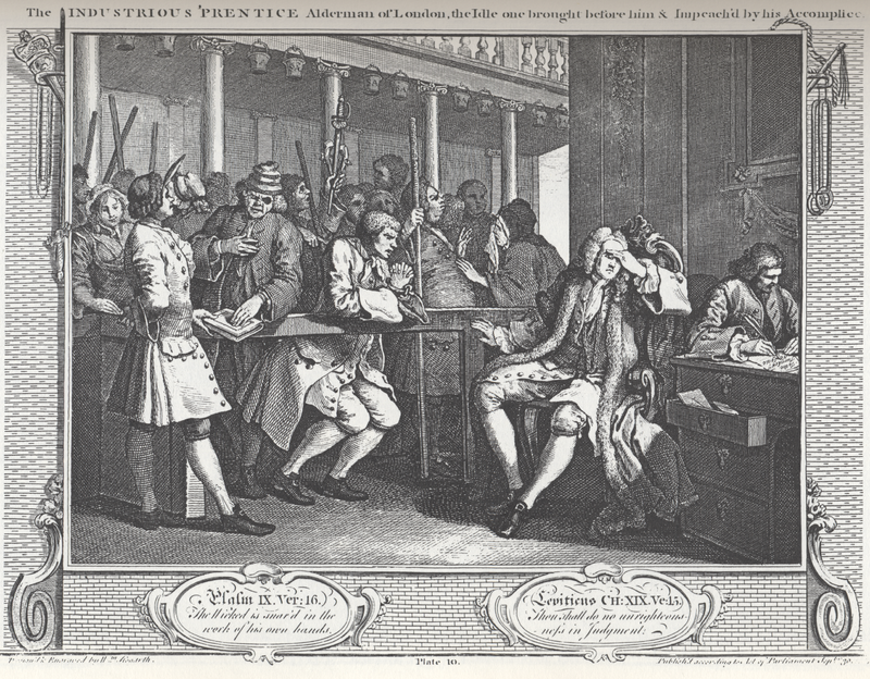 William Hogarth Industry and Idleness Panel 10