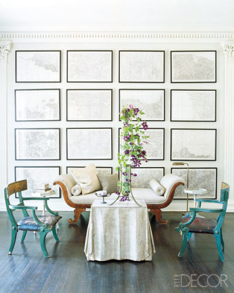 Elle Decor gallery wall inspiration