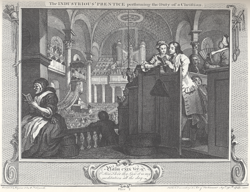 William Hogarth Industry and Idleness Panel 2