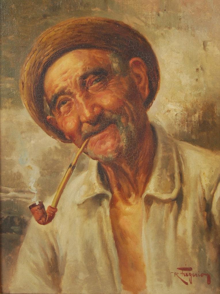 Vintage portrait by Raffaele Frigerio