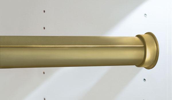 rod matte gold round