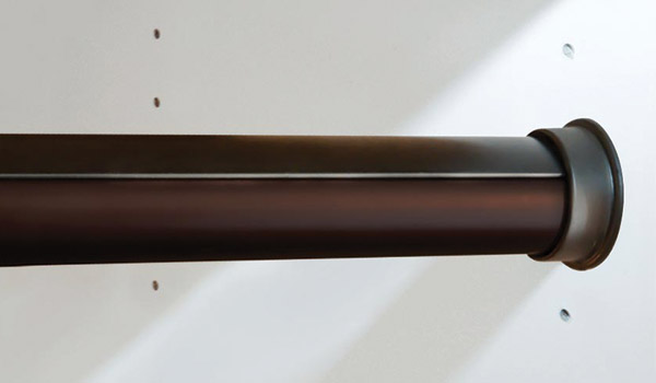 rod oil rubbed bronze round