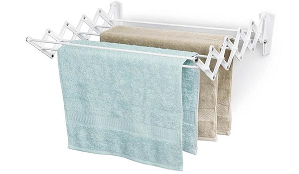 clothes drying rack towels