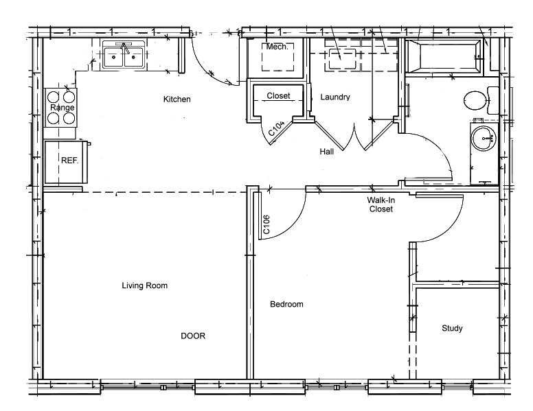 Douglass Next Door 1 Bedroom floorplan.png