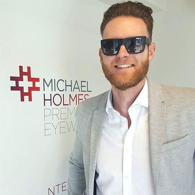 "The debbonaire, Mr Garrick Sutherland wearing his new #olivergoldsmithsunglasses very well. A true ""tomorrow's classic,"" it is almost unbelievable this model was first designed in 1968 #classicstyle"
