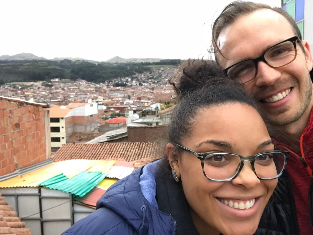 From the roof of our home in Cusco!