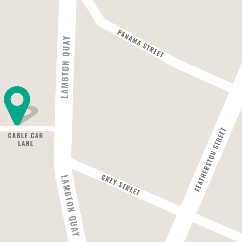 Cable Car Lane – Lambton Quay - Open Monday–Friday11am–3pm