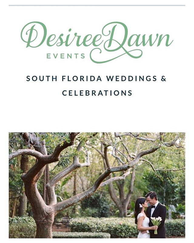 We're stoked to announce our new site, updated services, fresh content & meet new lovers!🍃💍👌🏽 Since 2010, we've been providing South Florida with locally inspired design and cheerful planning services. WE HUSTLE SO YOU CAN CELEBRATE! #desireedawnevents #southfloridaweddingplanner #outdoorweddings #backyardweddingplanner thank you @katbraman & @portandpalmco for the pretty!