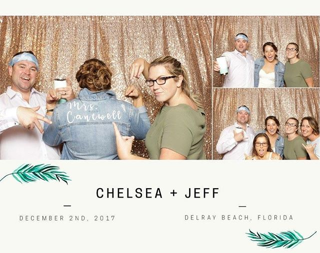 last night with @wandererbooth was pretty rad! all together: @00jeffcantwell00 @chelsea.rioux @brittanylemirephotography @chelseaerwinweddings @desireedawnwed + all that rose gold shimmer & custom denim o'course. #cantwellwedding #photoboothfun #friendors