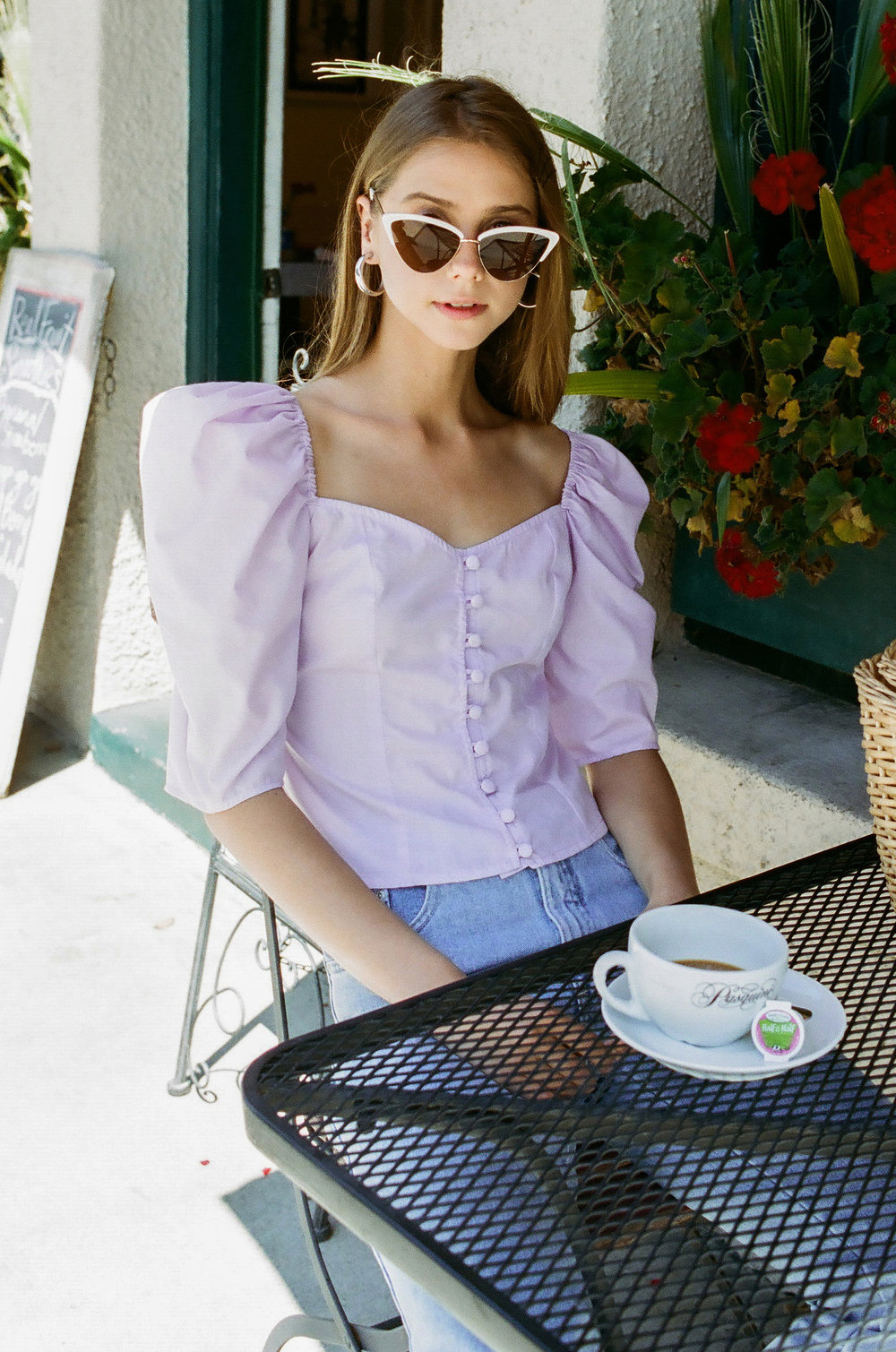 Violette Blouse in Lilac - $189 -
