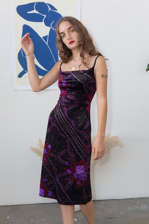 Shop Girl Shop Y2k Betsey Johnson Velvet Dress