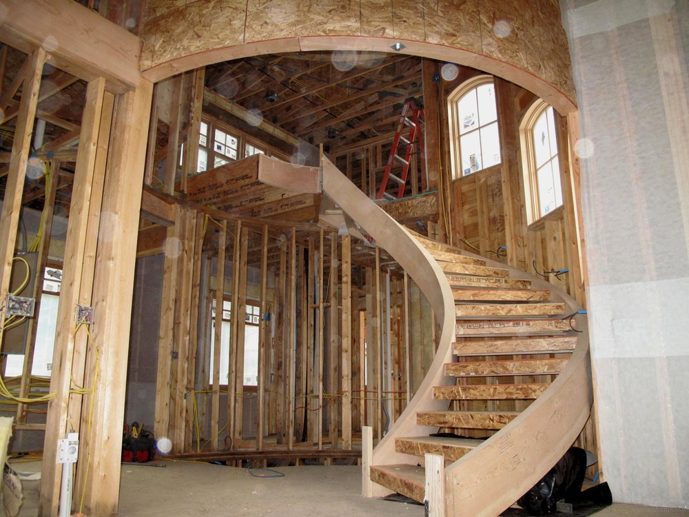 Wooden Spiral Staircase Diy Gutters Landscape Architects