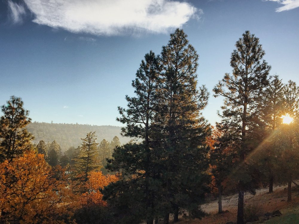 View from our deck in the small town of Klamath Falls, OR.