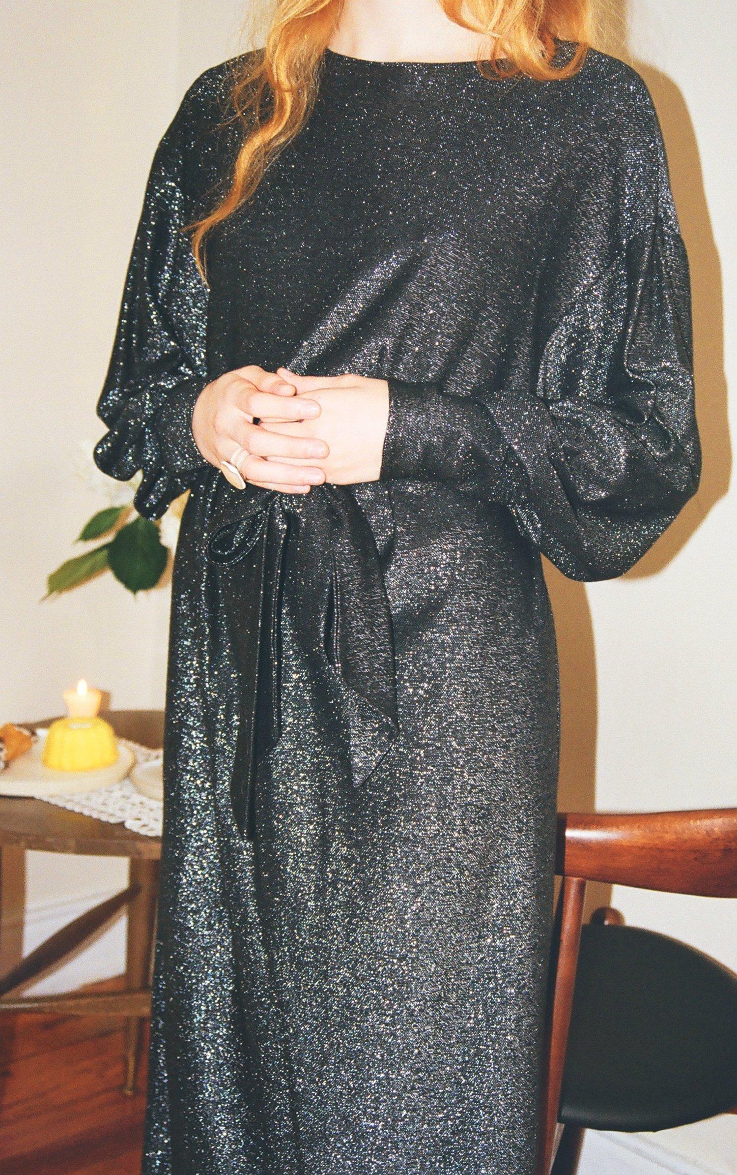 92e037a74ef Vintage Giorgio Sant  Angelo Metallic Knit Dress — Lucia Zolea