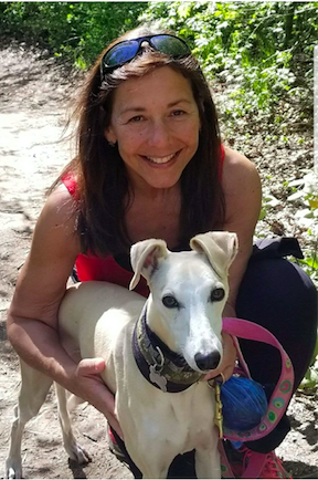 Dr. Berman with her whippet Pacey