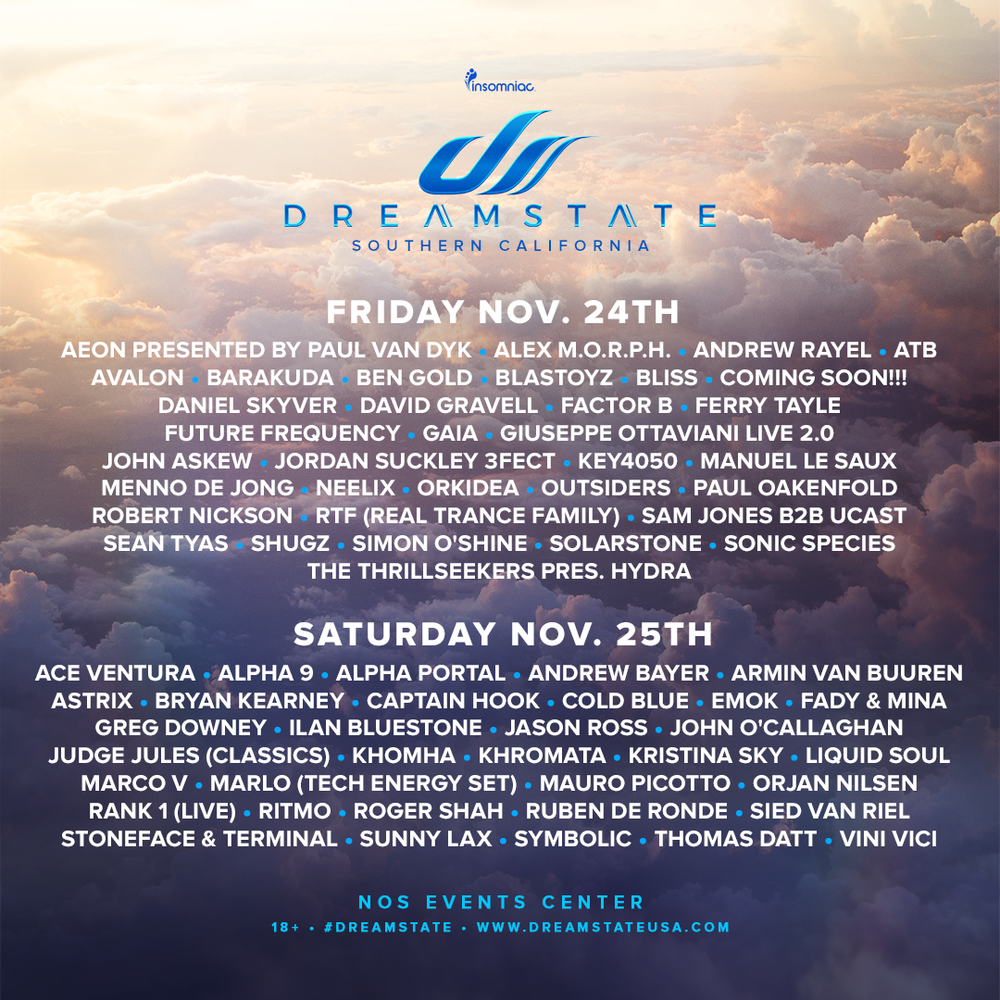 Single Day Tickets - Single Day Tickets to DreamState are now on Sale!