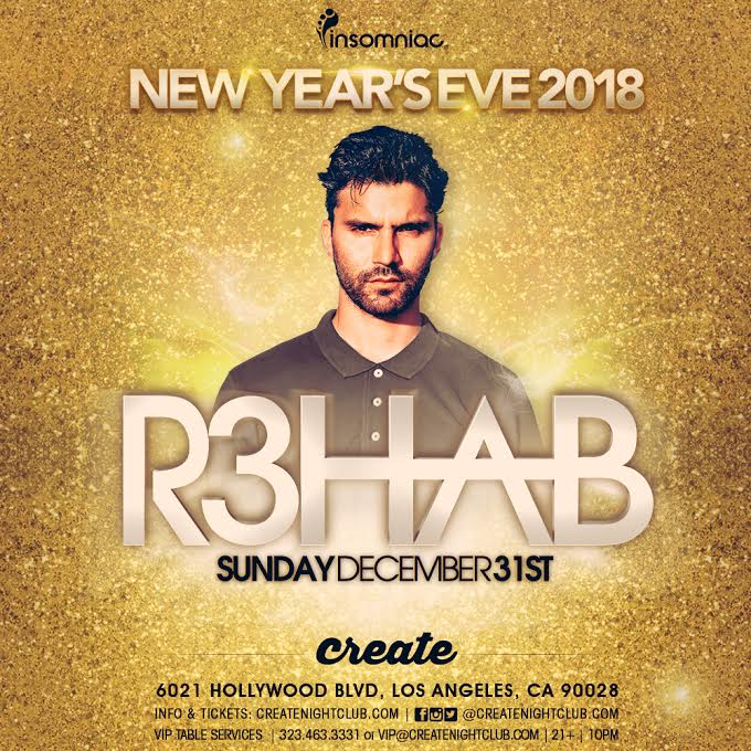 Tickets - R3hab at Create