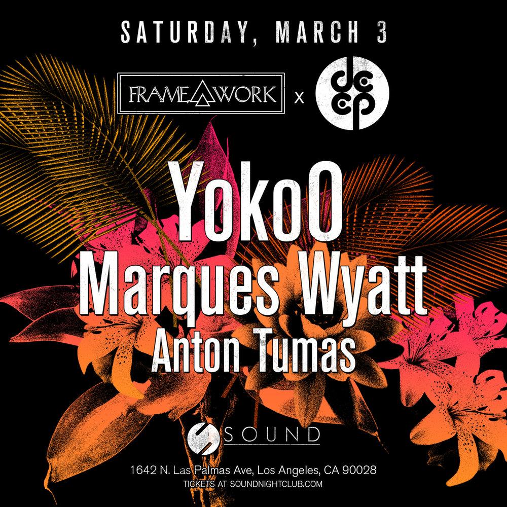Tickets🎟️ - YokoO, Marques Wyatt, Anton Tumas at SoundGuestlist Pricing TBA
