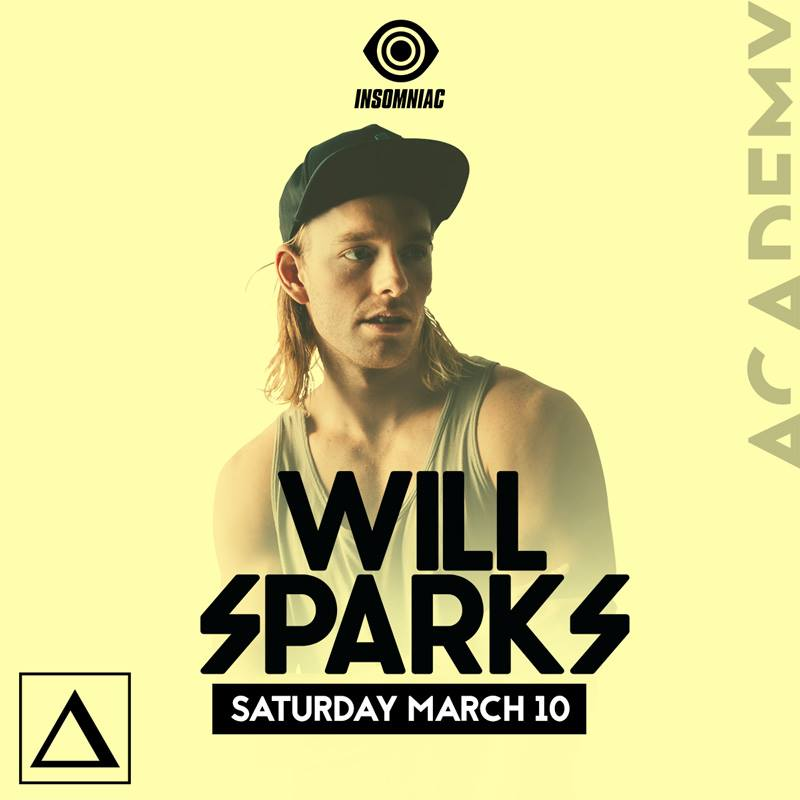 Tickets - Will Sparks at AcademyGuestlist Available
