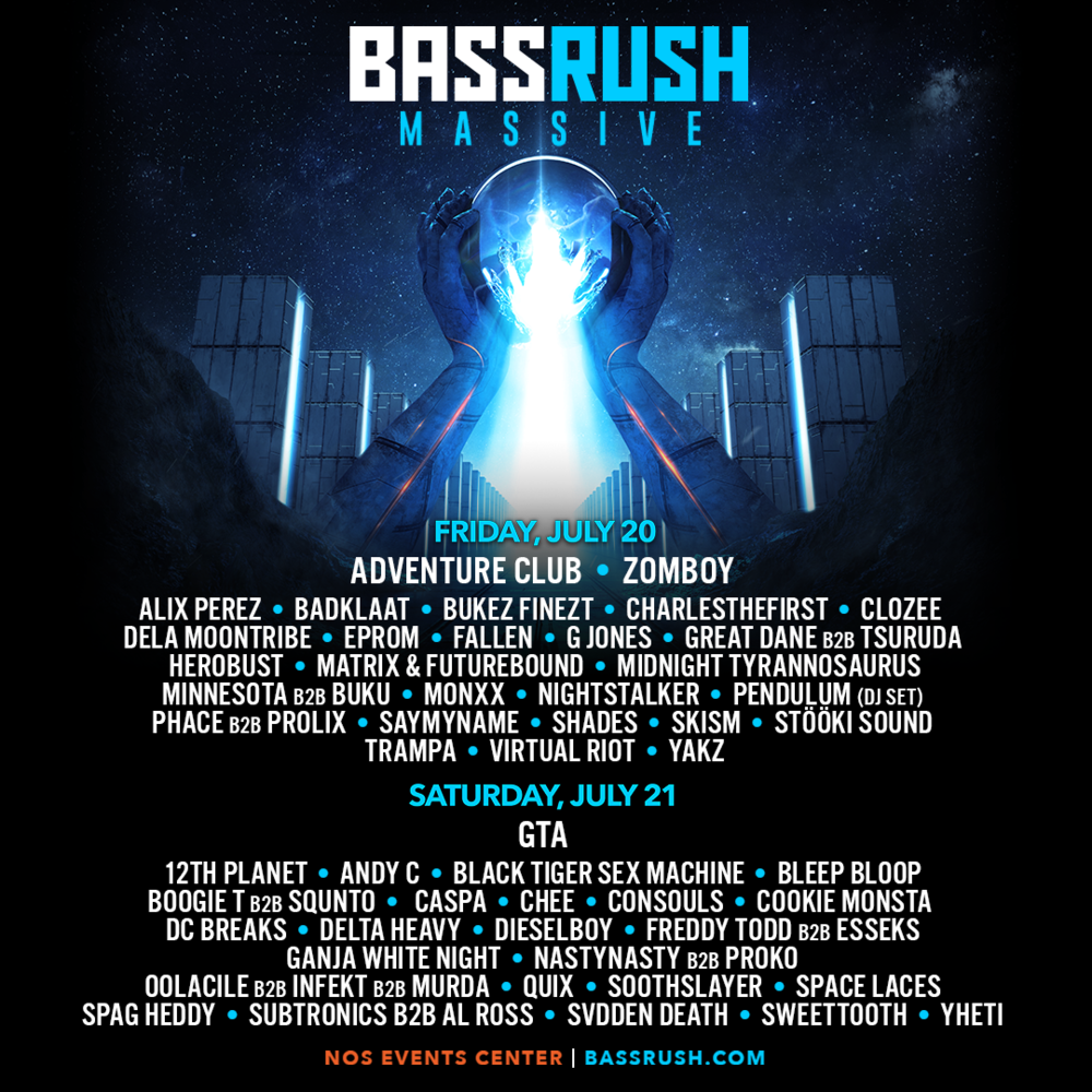Bassrush Massive - 2 Days Of Bass Music
