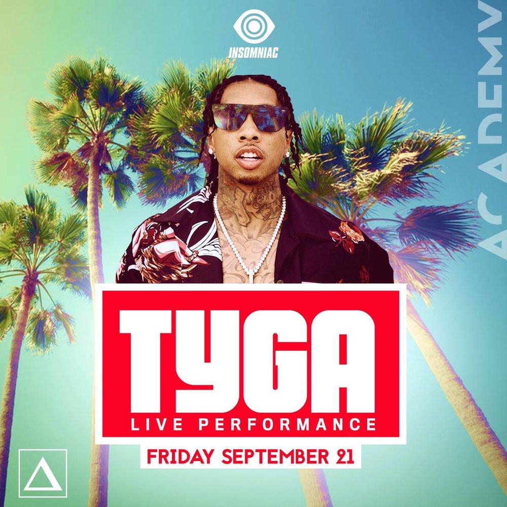Fri, Sept 21 - Tyga (Live) at Academy