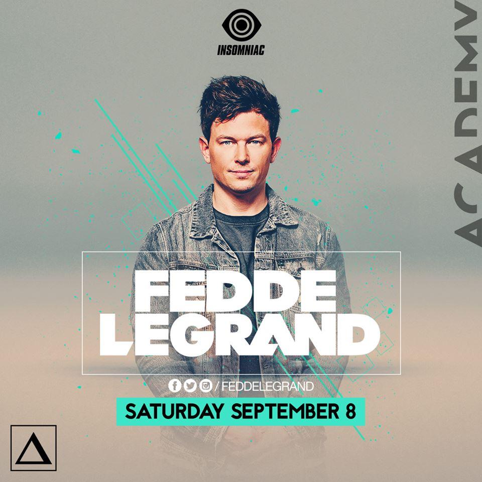 Sat Sept 8 - Fedde Legrand at Academy