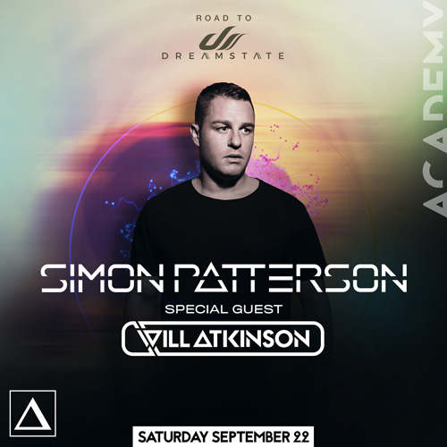 SAT, SEPT 22 - Road to Dreamstate:Simon Patterson, Will Atkinson