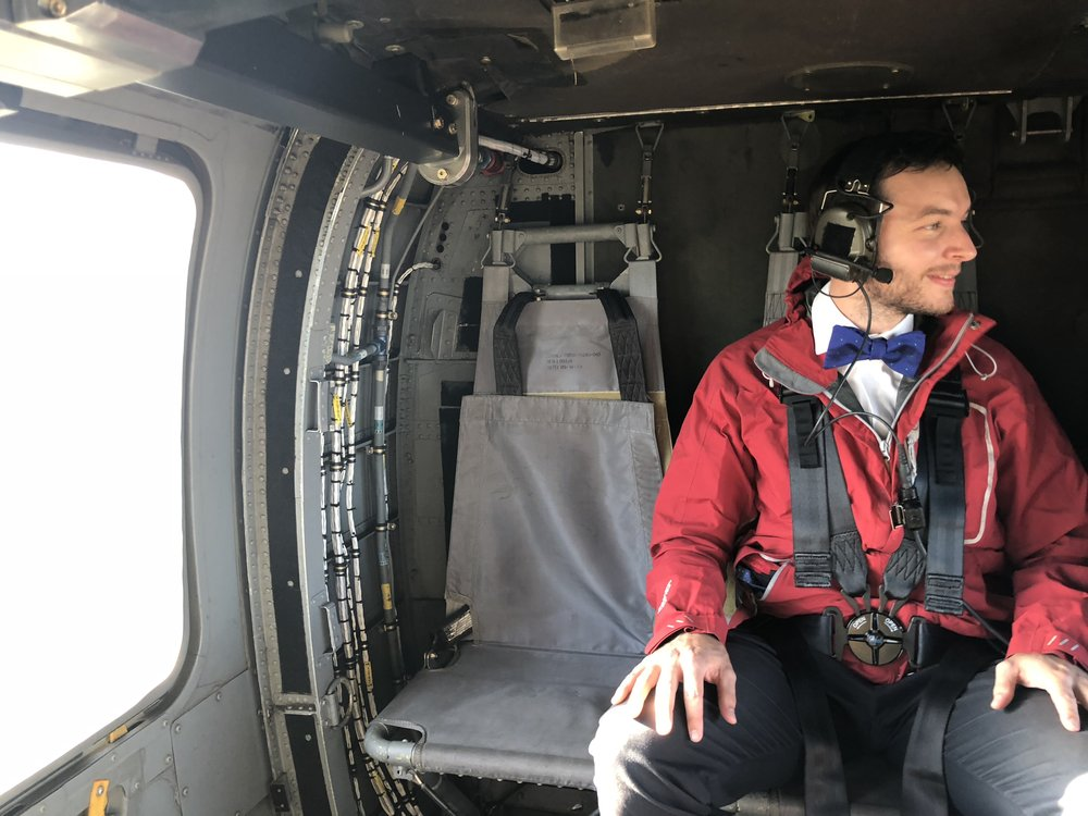 bow tie in helicopter