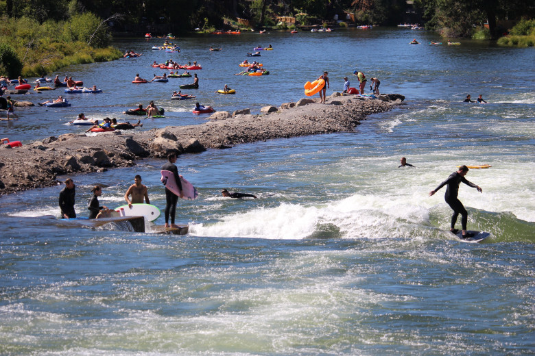 Bend, OR Whitewater on a summer day.