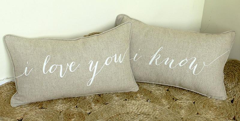 I Love You - I Know Decorative Pillows.jpg