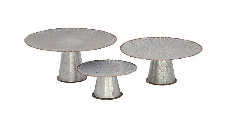 Set of 3 Galvanized Cake Plates (ruffled edging).jpg