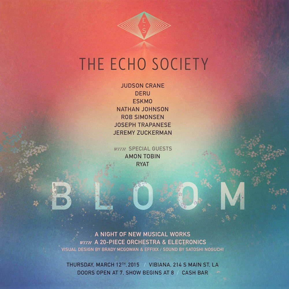 The flyer for the third installment of The Echo Society. March 12, 2015