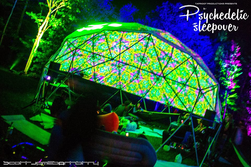 The geodome by Illumine Productions was the spot  for late night shenanigans ( Credit:  Scott James Artistry   )
