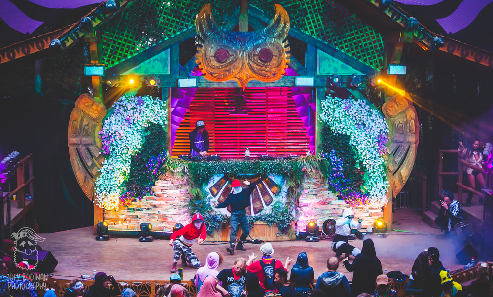 The Chord Marauders' first signed artist,  FLO , performing at the Grove Stage at Shambhala Music Festival 2018( Credit:    JoeyRootPhoto   )