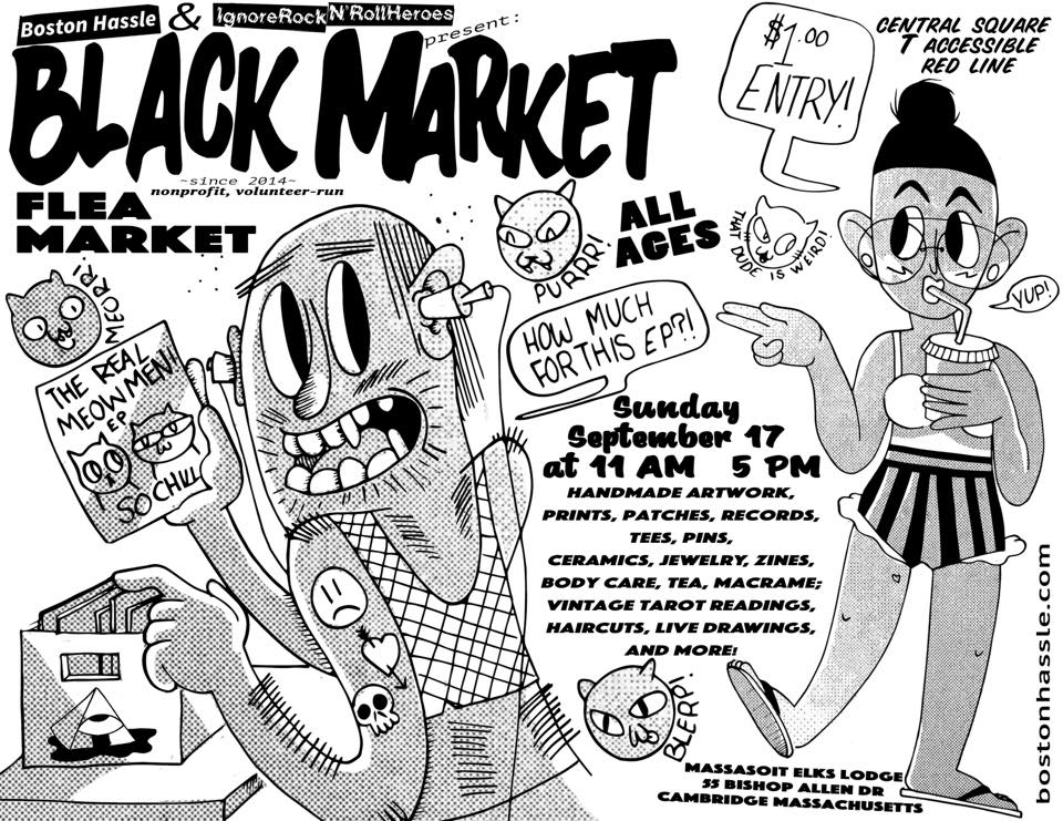 Come on out to the Black Market! I'll be at a table there with countless other makers, artists, and vendors!