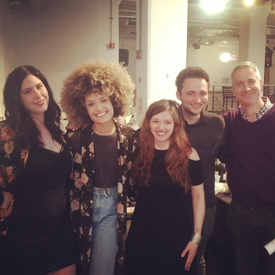 From L to R, Lisa Marie Basile, Diannelly Antigua, Alisson Wood, Adam Dalva, & Darin Strauss. April 30th, 2017.