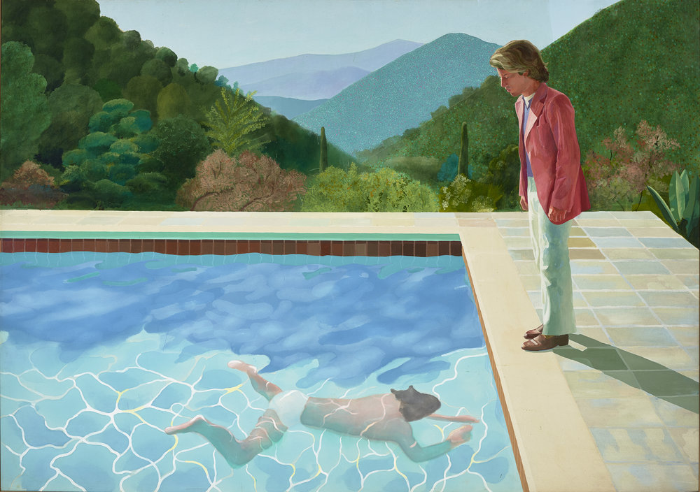 David Hockney. Portrait of an Artist (Pool with Two Figures), 1972. The Lewis Collection.