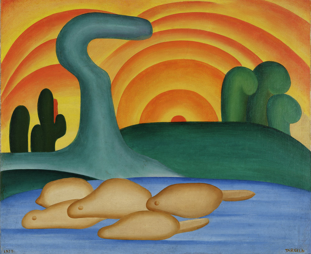 Tarsila do Amaral. Setting Sun (Sol poente), 1929. Oil on canvas. © Tarsila do Amaral Licenciamentos.